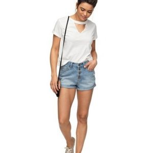 NWT! Roxy Hider Denim Shorts